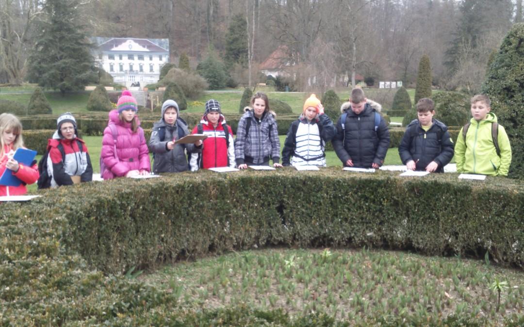 Šestošolci v Arboretumu