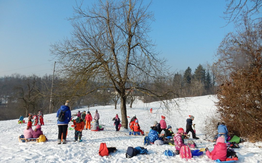 Zimski športni dan na Drenovem Griču