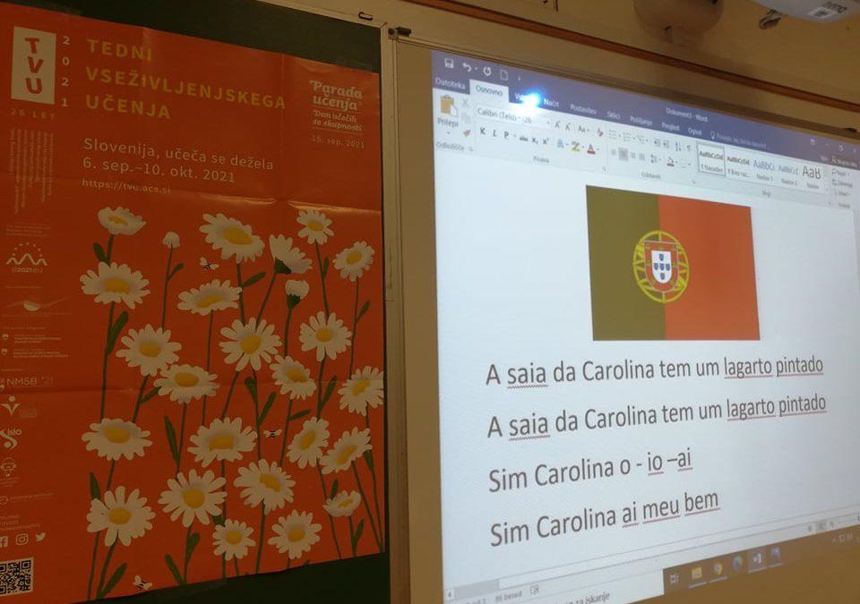 Tedni vseživljenjskega učenja TVU – portugalski dan