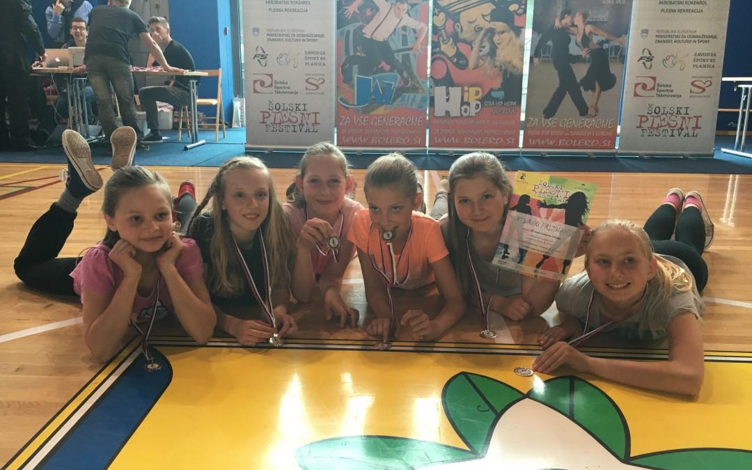 Uspeh naših plesalk na področnem tekmovanju ŠPF 4. – 6. razred